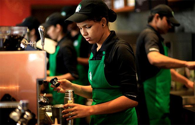 Работники Starbucks